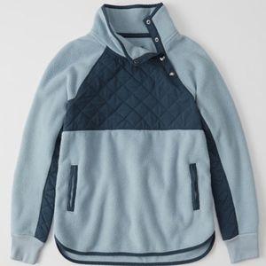 Abercrombie Fitch A&F Asymmetrical Snap Up Fleece
